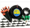 10m 9/12 garden hose with timer + 10 nozzles single outlet