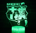 3D LED night light FC Barcelona touch + remote control