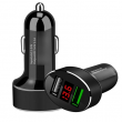 Auto Charger QC 3.0 + 2.4A - Black
