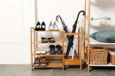 Bamboo New Ridge Home Goods Natural 4-Tier Shoe Rack - HY4105