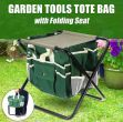 Garden stool with bag for tools