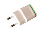 HF-218 - Adapter charger USB 2xUSB - white
